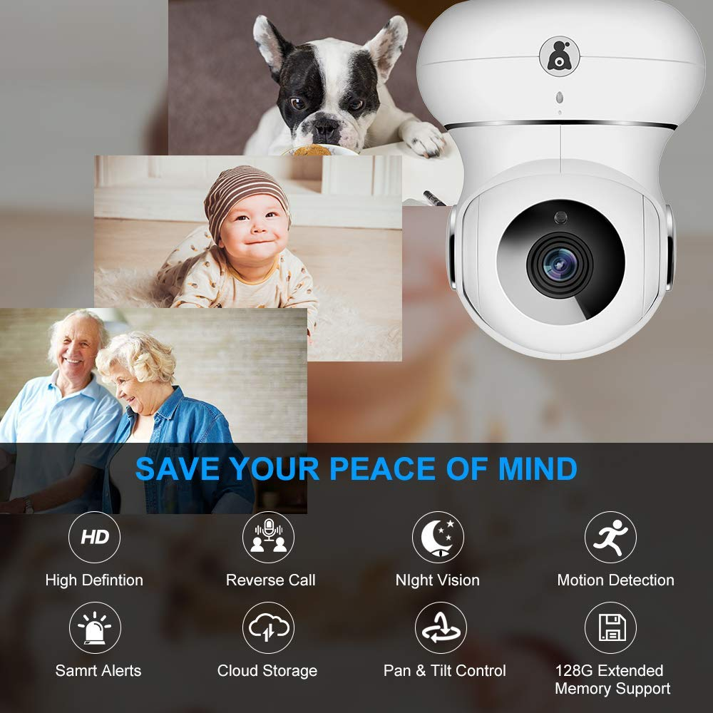 Wireless IP Indoor Security Camera - Littlelf WiFi Camera with 3D Navigation, Motion Detection, 2-Way Audio&Night Version for Pets/Nanny/Baby Monitor-Cloud Service by Littlelf