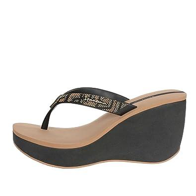 Ipanema 81936 21728 Tongs Femme Noir Noir - Chaussures Tongs Femme