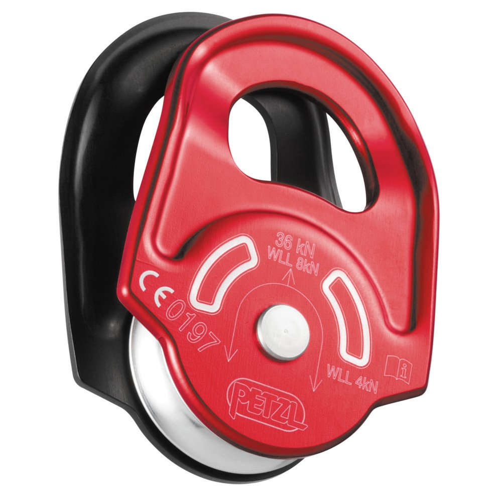 Petzl Rescue Pulley - One Size - Red/Black by PETZL