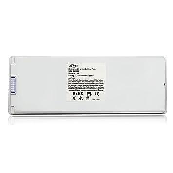 A1185 Batería del ordenador portátil Batería Macbook Reemplazo blanco de la fuente de alimentación para 13