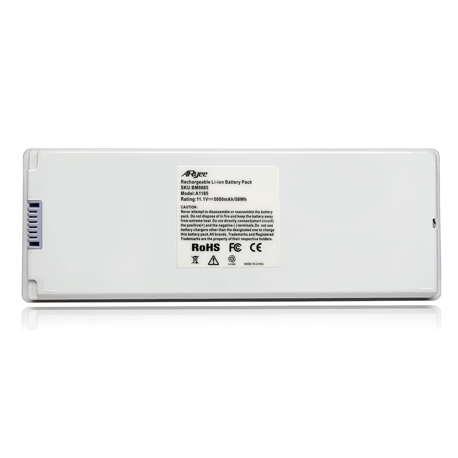 A1185 Battery Laptop Macbook Battery White Power Replacement for 13''MacBook Pro(2006&2007) Fits MA561, MA561FE/A, MA561G/A, MA561J/A, MA561LL/A [11.1v 56Wh] ARyee