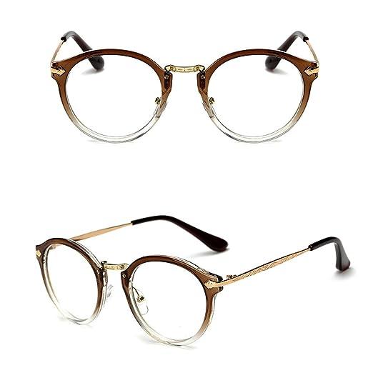 b4f3aa54c1 Pink-day Vintage Men Women Eyeglass Round Frame Clear Full Rim Spectacles  Eyewear Optical (