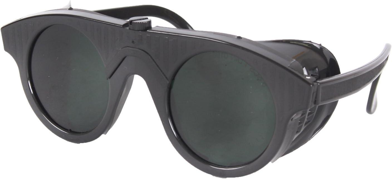 Schweisserbrille schwarzer Kunststoff DIN5 Autogenschutzbrille Schweißbrille