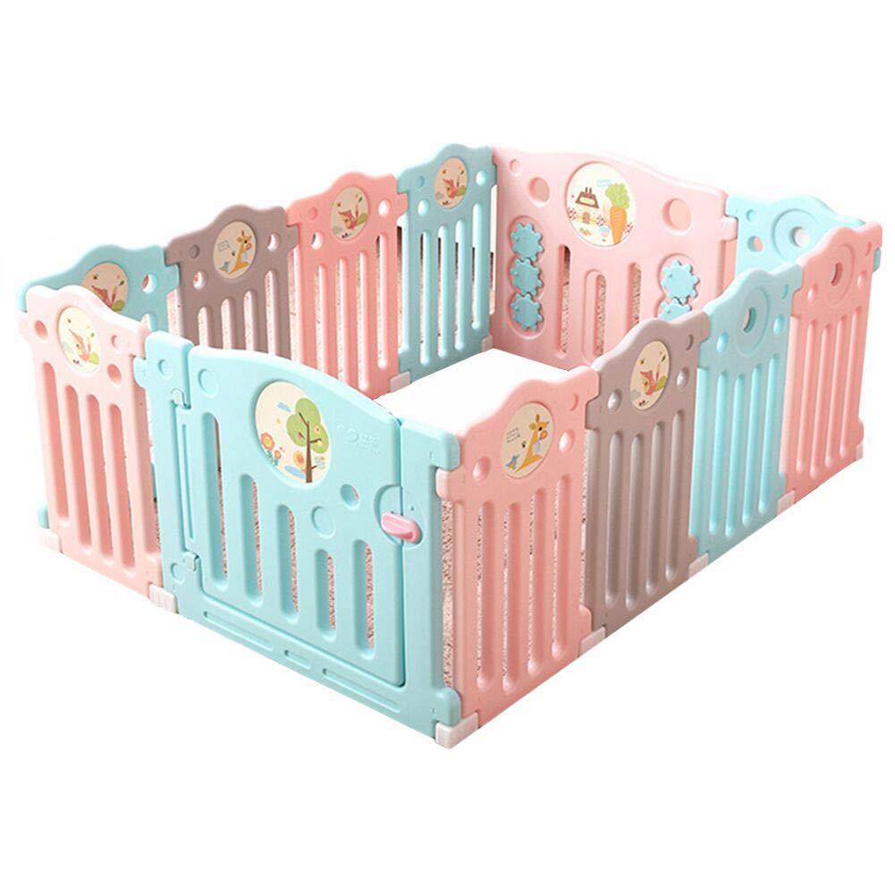 特別セーフ ベビーサークル 赤ちゃんPlaypenプラスチックポータブルキッズアクティビティセンター12パネル室内の子供のゲームのフェンス B07J569GB6 B07J569GB6, プリズム:a02013cc --- 4x4.lt