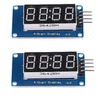2 unidades de 0.36 pulgadas tubo de 4 dígitos LED módulo de