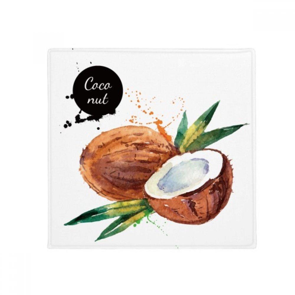 DIYthinker Coconut Fruit Tasty Healthy Watercolor Anti-Slip Floor Pet Mat Square Home Kitchen Door 80Cm Gift
