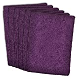 DII Kitchen Millennium Cleaning, Washing, Drying, Ultra Absorbent, Microfiber Dish Towel, Set of 6, Eggplant