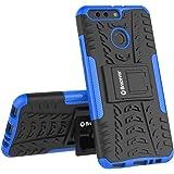 Bracevor Shockproof Hybrid Kickstand Back Case Defender Cover for Huawei Honor 8 Pro - Blue
