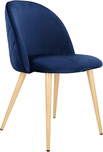 Set of 2 Dining Chairs Mid Century Modern Accent Velvet Leisure Chairs Upholstered Side Chair