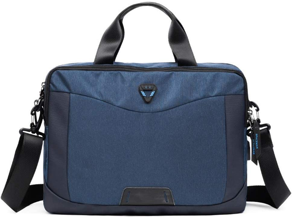 Color : Blue , Size : 381027cm Mens Briefcase Laptop Bag Business Briefcase Waterproof Carrying Bag 14 Inch Computer Bag Black Blue For Men For Daily Commuting And Business Trip 14inch