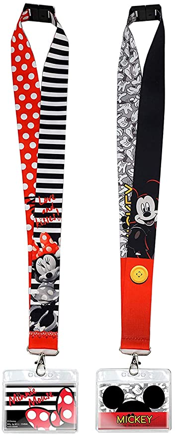 Cordones Disney con soportes de identificación, Mickey y ...