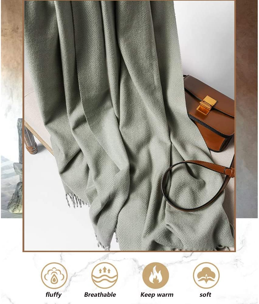 GWLTV Cashmere Scarf Womens Multifunctional Thickened Warm Fringe Shawl Wool Scarf 21070Cm,Camel