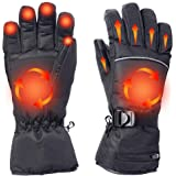 Alritz Battery Heated Gloves for Men Women, 7.4V Rechargeable Winter Warm Gloves Waterproof Insulated Hand Warmers for Indoor Outdoor Sports, Skiing, Climbing, Motorcycle, Three Heating Modes