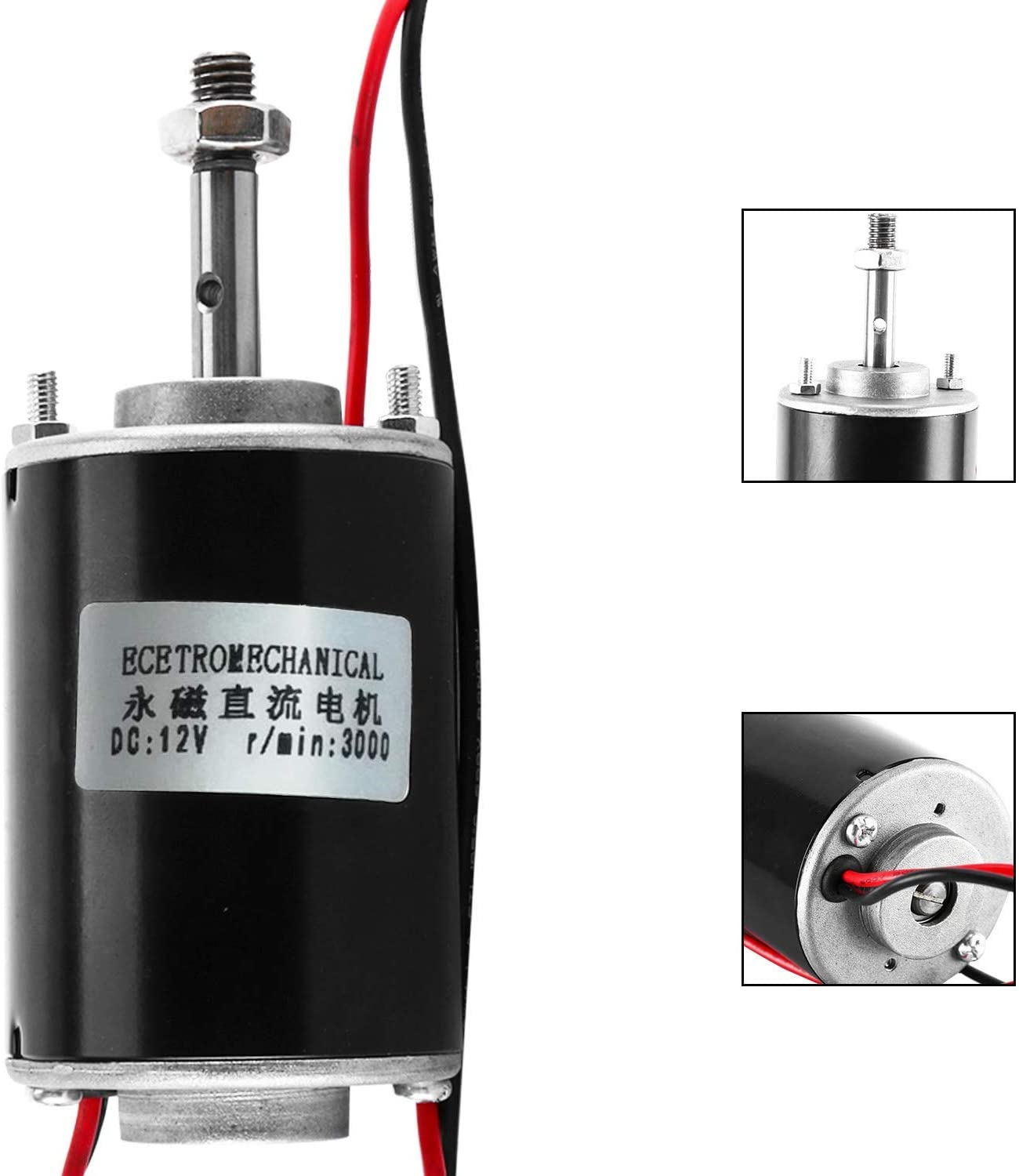 Electric Drill DC Motor 24V 5500rpm Polisher Small Generator Cutter Cotton Candy Machine 12//24V 150W Large Power High Speed Brush DC Motor CW//CCW for DIY Generator