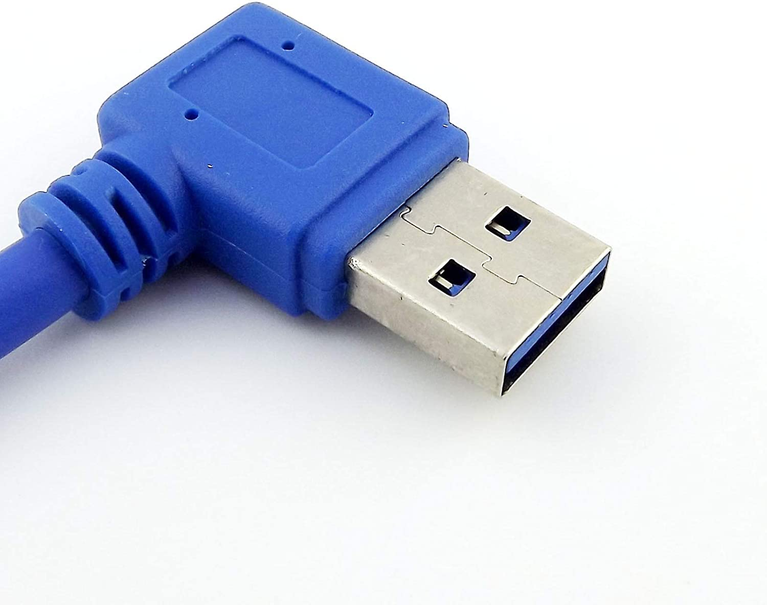 Connector and Terminal / USB 3.0 A Male Plug 90 Degree Left Angle to A Male Right Angle Adapter Cable 1FT