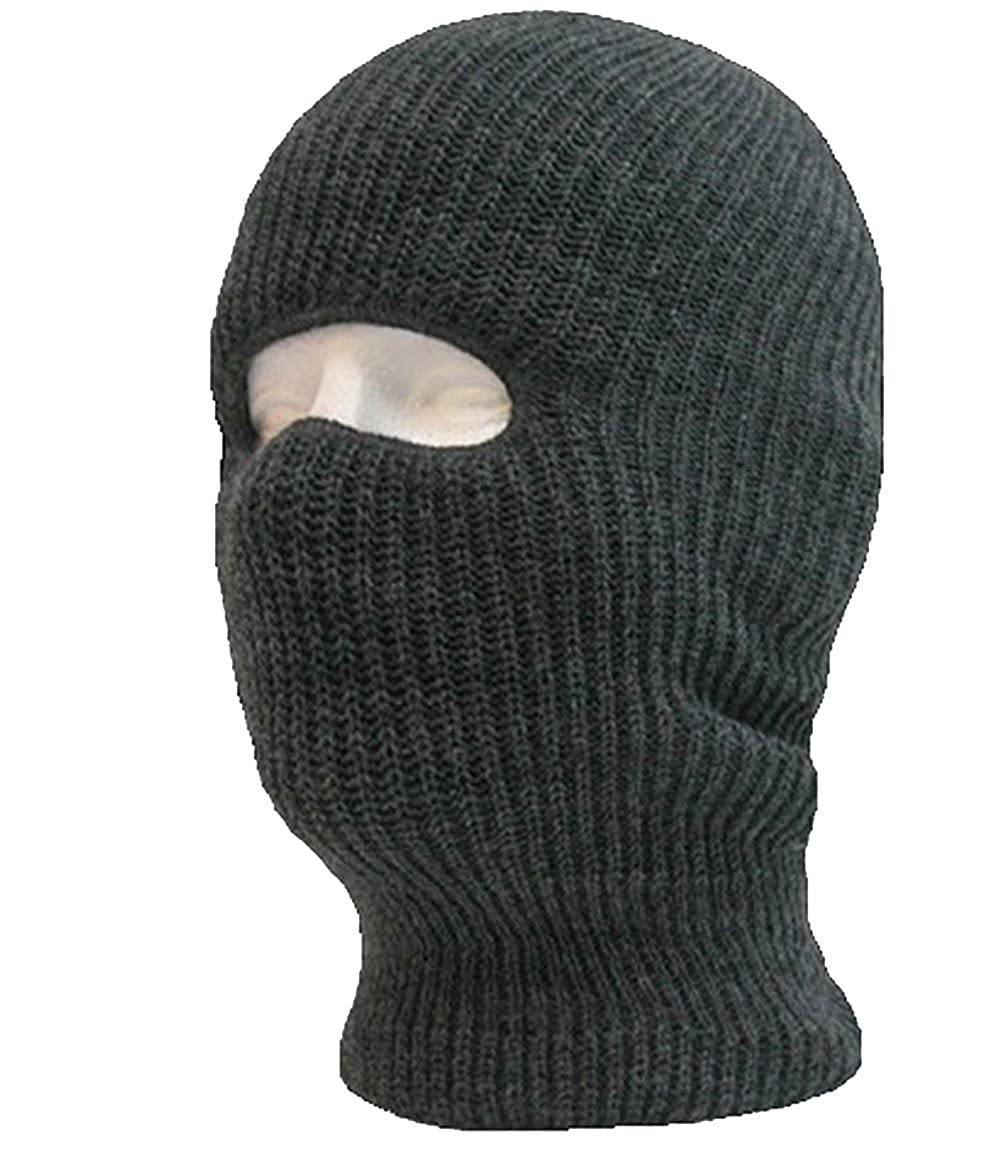 1 Hole Knit Tactical Ski Mask Beanie Monkey Caps by Decky (Charcoal Grey)