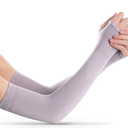 UV Protection Cooling Arm Sleeves-UPF 50 Long Sun Sleeves for Men   Women, 1f7ff4439
