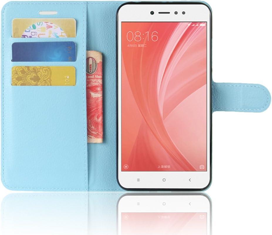 Funda para Xiaomi Redmi Note 5A Faux Cuero Billetera con Stand Función Carcasa para Xiaomi Redmi Note 5A (Azul): Amazon.es: Electrónica