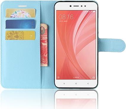Funda para Xiaomi Redmi Note 5A Faux Cuero Billetera con Stand ...