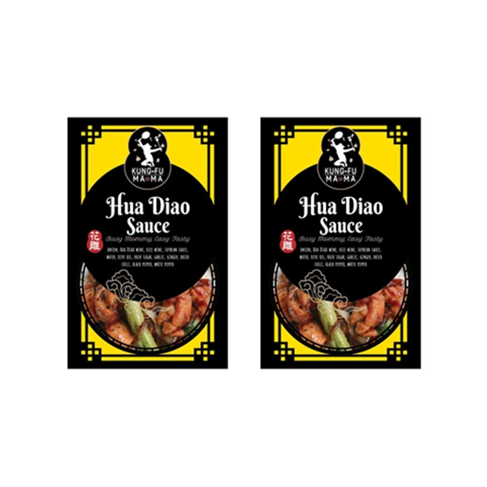 ShungRenHsu Kung Fu Mama Hua Diao Sauce, Chinese Cuisine Cooking Sauce - 80g Each for 2-4 Serves x 2 Packs: Amazon.es: Alimentación y bebidas