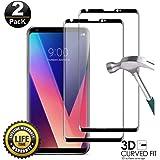 Transparent LGYD for 25 PCS 9H 3D Full Screen Tempered Glass Film for LG V30 Color : Transparent