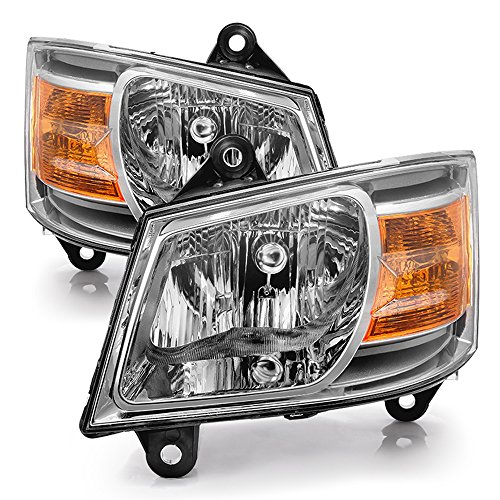 ACANII - For 2008-2010 Dodge Grand Caravan Replacement Headlights Headlamps 08-10 Driver + Passenger Side