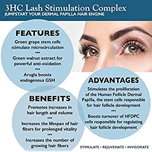 Pure Biology Eyelash Growth Serum & Eyebrow Enhancer w/ Breakthrough Growth Stimulating Complex - Safe & Irritation-Free (Precision Applicators Included)