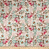 Art Gallery Fabrics Art Gallery Bachelorette Fusion Jersey Knit Garden Fabric by the Yard, Rocket