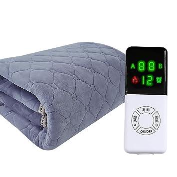 ASDFGH Radiación-Libre Control Doble Calienta Camas eléctrico, Casa Snuggle Calienta Camas eléctrico Seguridad Cómodo Cama de Matrimonio Mantas ...
