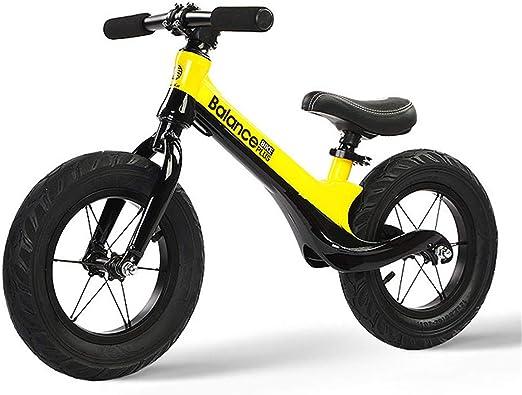 GJNWRQCY Bicicleta de Equilibrio Peso Ligero Pedal sin Pedales ...