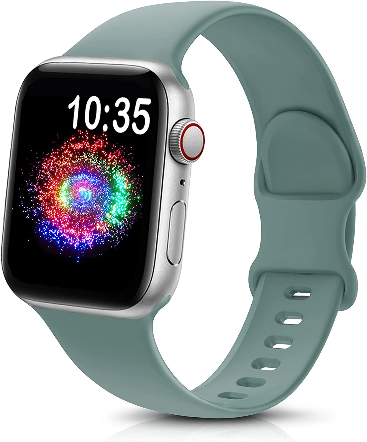 TreasureMax Sport Band Compatible with Apple Watch Bands 38mm 40mm 42mm 44mm, Soft Silicone Replacement Strap Compatible for Apple Watch Series 6 5 4 3 2 1 SE Men Women Cactus 38MM/40MM
