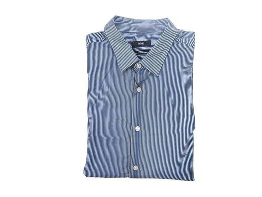 4b30b0e1f Amazon.com: Hugo Boss Men's Slim Fit Dress Shirt (Reid, X-Large): Clothing