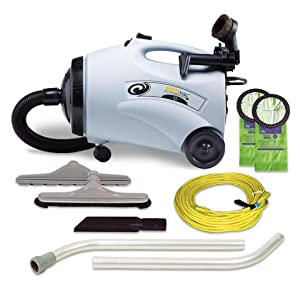 ProTeam Canister Vacuum Cleaners, ProVac CN Vacuum Canister with Restaurant Tool Kit Attachments, 10 Quart, Corded