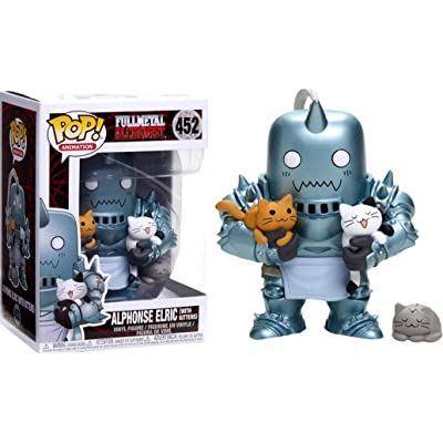 Funko POP Animation Full Metal Alchemist Alphonse Elric (with Kittens) Exclusive: Toys & Games