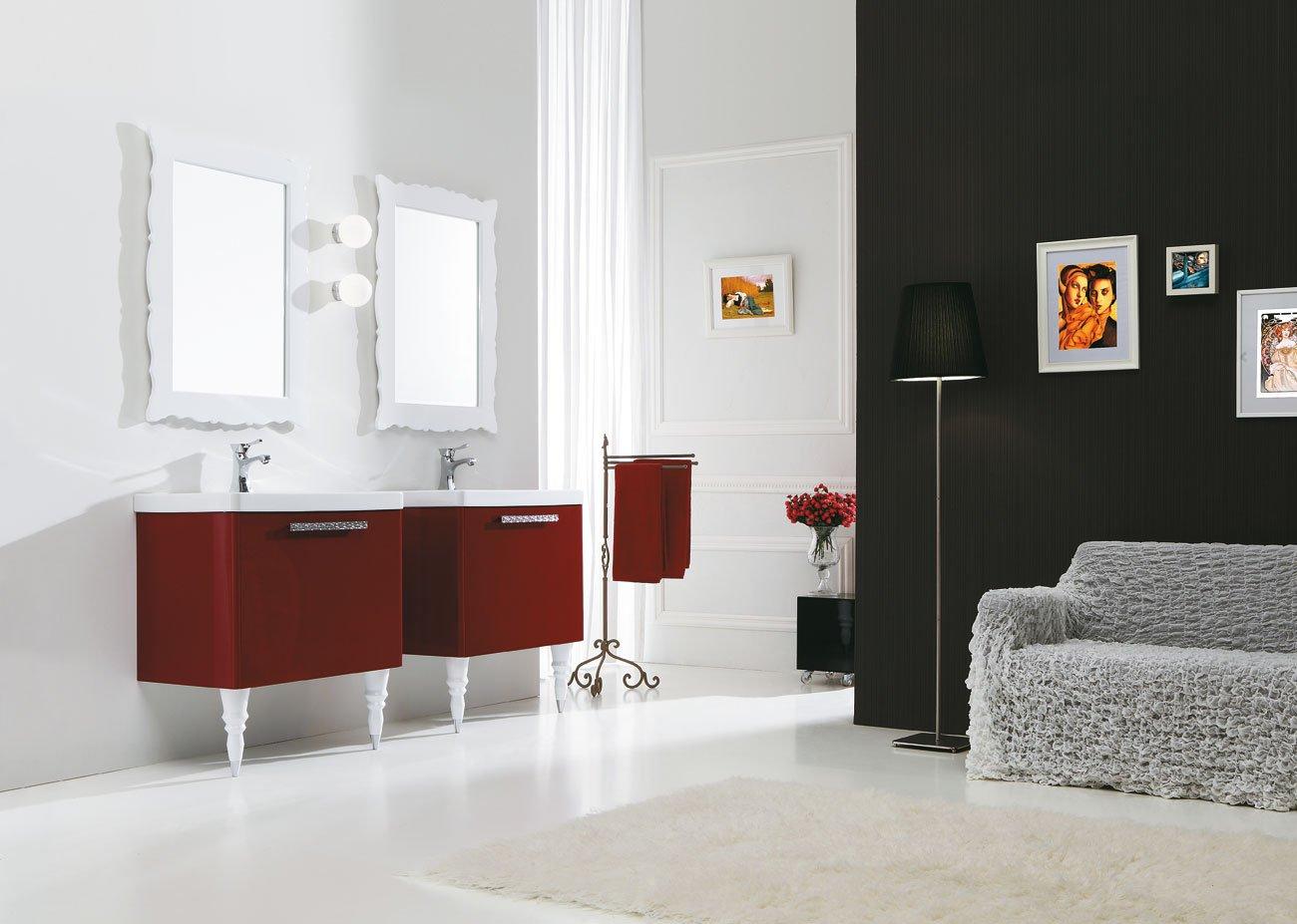 dafnedesign.com Juego de muebles de baño con cajones 2 lavabos y 2 espejos con luces