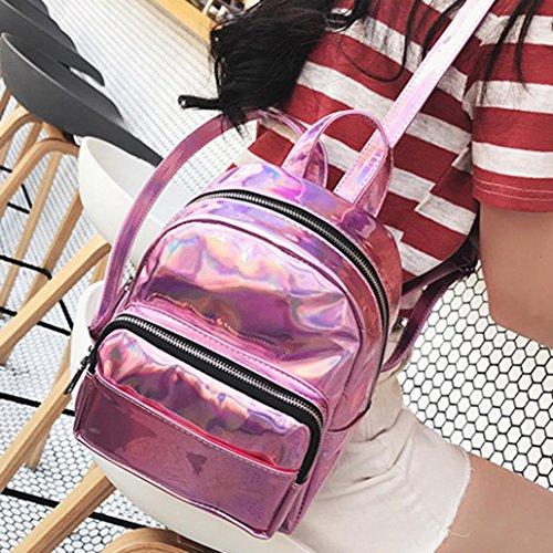 Girls Shoulder For Zipper Schoolbags Rucksack Women Leather Outdoor Pink Teen Casual Travel Waterproof Zerototens Backpacks Bag Fashion Satchel xqCaw0q6B