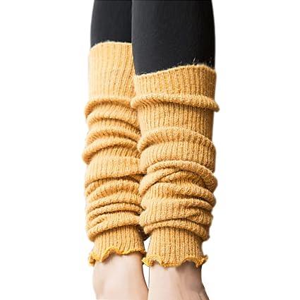 TININNA - Calcetines térmicos de punto para mujer, mezcla de lana cálida para invierno amarillo