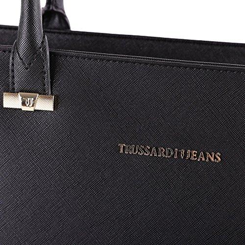 Donna 75b000031y090122k299 Nero Jeans A Poliestere Spalla Borsa Trussardi TIxawX