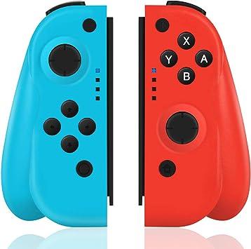 TUTUO Mando para Nintendo Switch, Wireless Controller Gamepad Bluetooth Joystick Controlador De Reemplazo Izquierdo Y Derecho para Joy con: Amazon.es: Electrónica