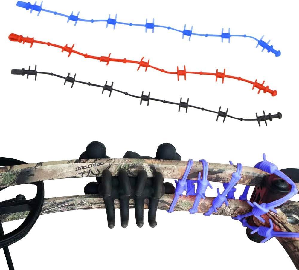 6pcs Archery Bow Stabilizer Wire Body Balance Bar Limbs Riser Rubber Silencer