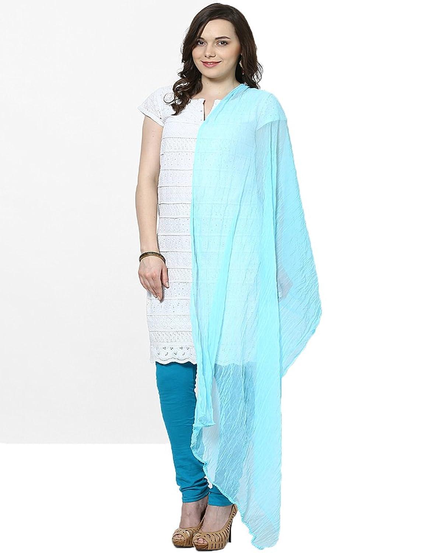 Castle Women's Dupatta (Light Sky Blue_Free Size)