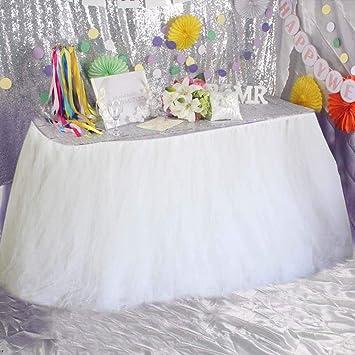 00fcce666 Everpert Falda de mesa para baby shower, fiesta de cumpleaños ...