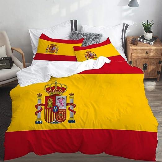LASINSU Funda De Edredón,Bandera española roja de España Armas ...
