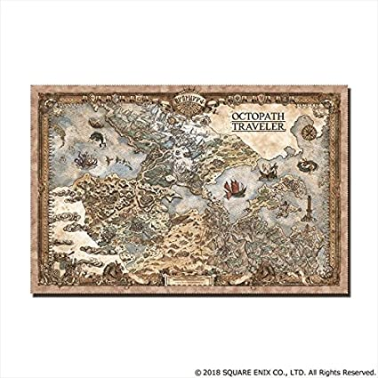 Amazon Com Octopath Traveler Continent Map Cleaner Cloth Toys