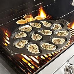 Sur La Table Cast Iron Oyster Pan 26303 , 12 Cavity