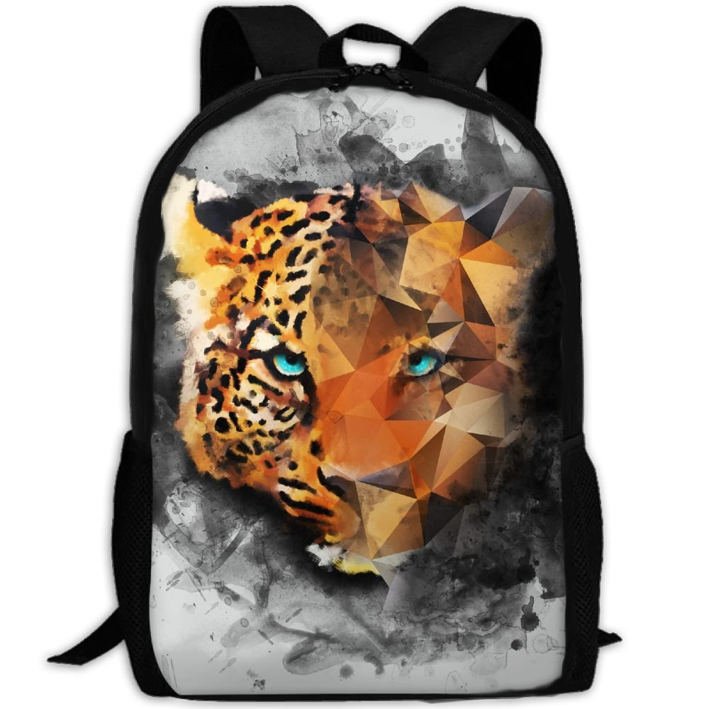 CY-STORE Painting Art Leopards Print Custom Casual School Bag Backpack Travel Daypack Gifts