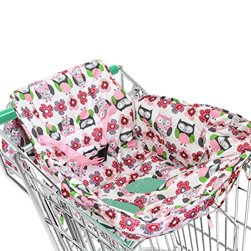 Dulcii 2 in 1 Universal Baby Shopping Cart Cover, High Chair Cover with Safety Belt for Baby - Shopping Haute
