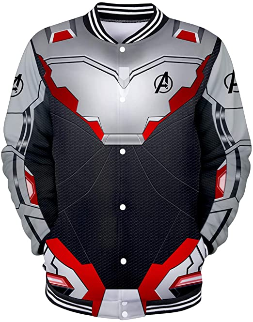 Amazon.com: Bettydom Mans Novelty Superhero Quantum Jacket ...