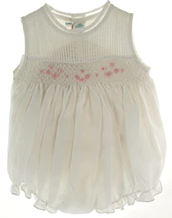 061ad9c5cd1 Feltman Brothers Feltman Brother Baby Girls White Smocked Bubble Outfit (3M)