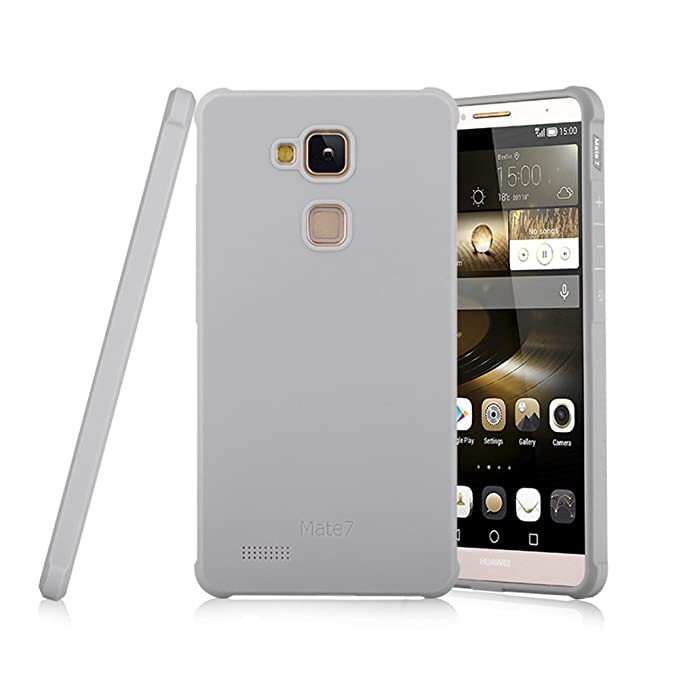 Schutzhülle Huawei Ascend Mate 7 Hülle, Business Serie Stoßfest Ultra Dünn Weich Silikon Rückseite Fall für Huawei Ascend Mat